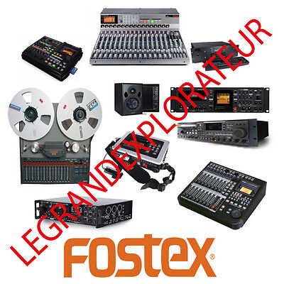 Ultimate  FOSTEX  Owner,  Repair  Service Manuals  (PDFs manual s on DVD)