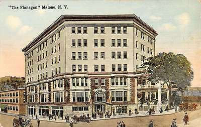 Malone New York The Flanagan Street View Antique Postcard K34231
