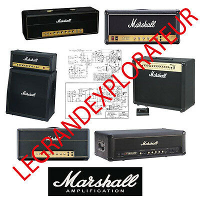 Ultimate  Marshall  Repair & Service manual Schematics    470 PDF manuals on DVD