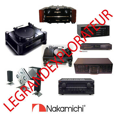 Ultimate  NAKAMICHI owners repair service manuals  (385 PDFs manual s on DVD)