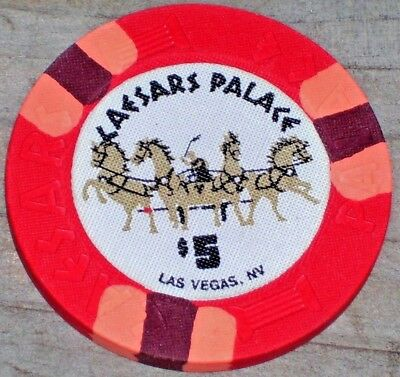 $5 9Th Edt Gaming Chip From Caesars Palace Casino Las Vegas