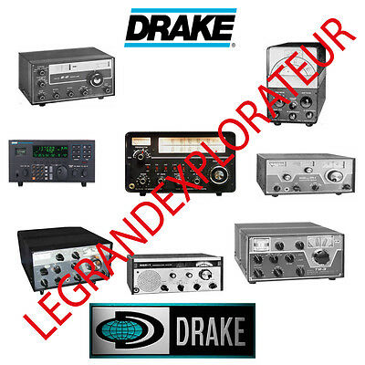 Ultimate DRAKE Ham Radio Operation Repair Service Manuals (PDFs manual s on DVD)