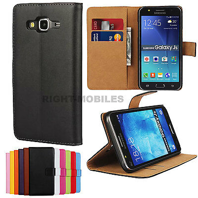 Genuine Real Leather Wallet Flip Stand Case Cover for Samsung Galaxy J5 (2016)