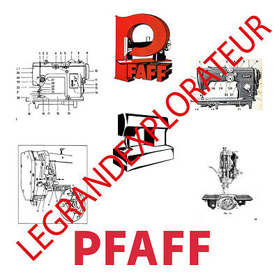 Ultimate PFAFF Sewing Machines  Service Repair Parts manuals (PDFs manual s DVD)