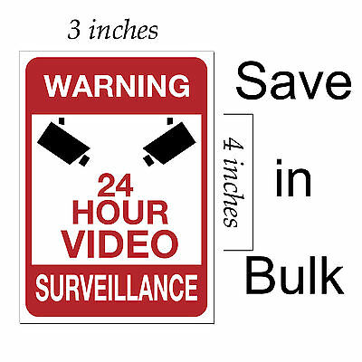 video surveillance warning sticker 24 hour cctv decal security home alarm