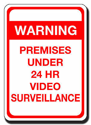Warning Video Surveillance Cctv Sign Metal Aluminum Or Pvc 9 By 12 And Larger