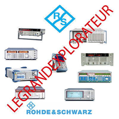 Ultimate Rohde & Schwarz Repair Service Owner Manuals & Schematics PDFs manual s