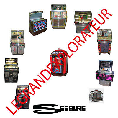 Ultimate Seeburg Jukebox Owner Repair Service Manual s & schematics  PDFs on DVD