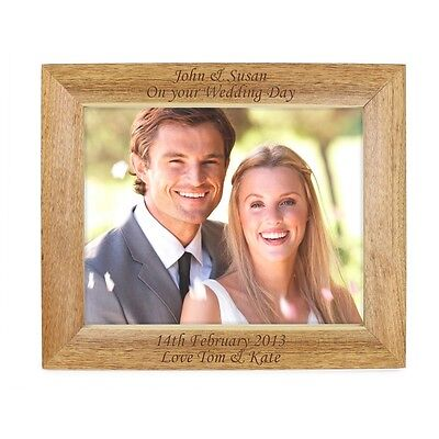 Personalised Engraved Oak Frame's -  Pets /Wedding/Birthday/Friends Gifts