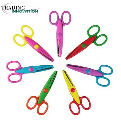 Set Of 7 Pattern Scissors Rounded Blades For Kid's Card Making Scissors