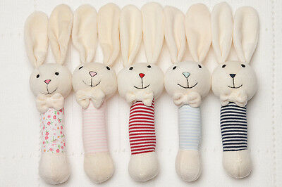 Baby Rattle Velour Bunny Rattle Soft Toy Baby Shower Baby Easter Gift Idea