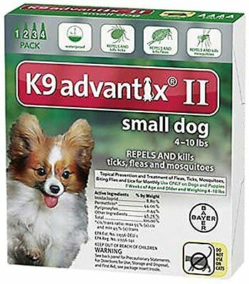 Bayer K9 Advantix II, Small Dogs, Up to 10-Pound, 4-Month