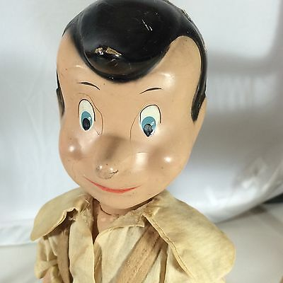 """Antique Composition And Wood 11"""" Pinocchio! Crown Toy Co"""