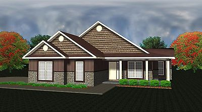 House Plans for 1545 Sq. Ft. 3 Bedroom Country Style