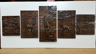 Timber Wall Art 3D Carvings