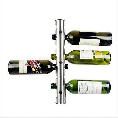 8-Hole Shelf Wine Bottle Rack Holder Wall Mounted Holds Storage Hanger Stand
