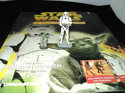 DeAgostini Star Wars Figurine Collection Issue 3 Yoda & Imperial Stormtrooper