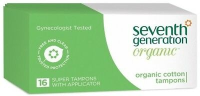 NEW Seventh Generation Tampon Super With Applicator 16 Count