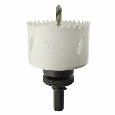 67mm HSS Hole Saw Holesaw Bi-Metal Blade Cutter Drill And Drill Adaptor Arbor