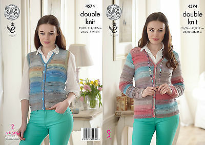 KINGCOLE 4574 Adult DK KNITTING PATTERN 28-46IN-not the finished items