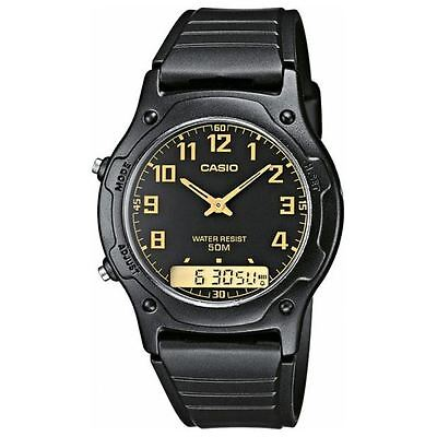 Casio Men's Analogue & Digital Watch With Resin Combi Strap (AW-49H-1BV)