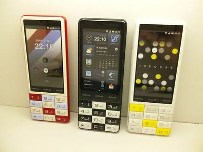 au-by-KDDI iida INFOBAR C01 JAPAN Non-working Display Phone 3 color set
