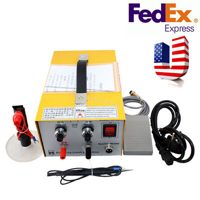 Pulse Sparkle Spot Welder 110V/220V Electric Jewelry Welding Machine  Silver us