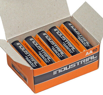 Duracell Industrial Procell MN1500 AA Battery Box of 10 Alkaline Batteries