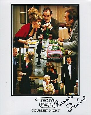 Fawlty Towers 'Gourmet Night' photo signed Prunella Scales UACC DEALER