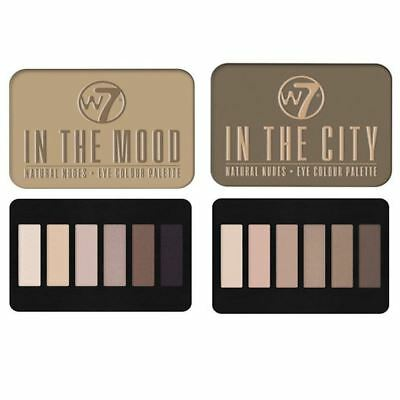 W7 Natural Nudes 6 Eye Shadows Palettes 2 to Choose From In the Mood In the City