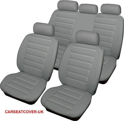 BMW X3 Series  - GREY Padded Leather Look Car Seat Covers - Full Set
