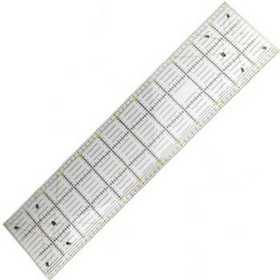 """Quilting Ruler, 24""""X6"""",rable acrylic plastic with both yellow and black printing"""