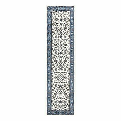 NEW Rug Culture Royal White Border Oriental Runner Rug