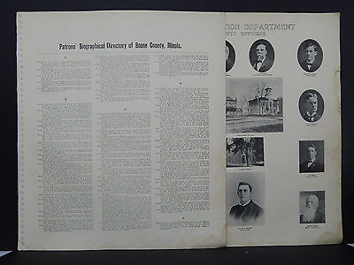 Illinois, Boone County Map, 1905 Patron's Biographical Directory P1#02