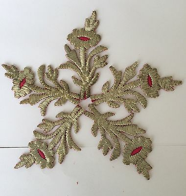 5 Pieces Antique Ottoman Turkish Silver Metallic Hand Embroidery For Applique