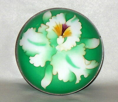 SUPERB  Vtg Ando Japanese CLOISONNE Wireless Musen Shippo Trinket Floral Box