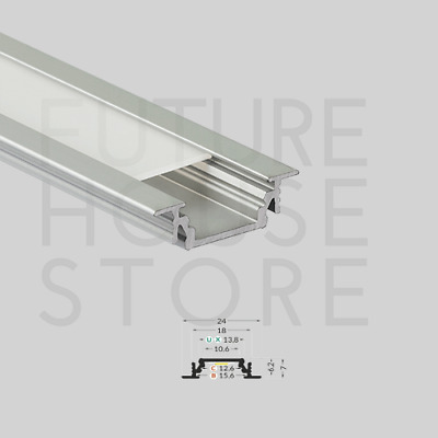 Anodised Aluminium Profile Channel Extrusion Groove10 Silver 1m For LED Strip UK