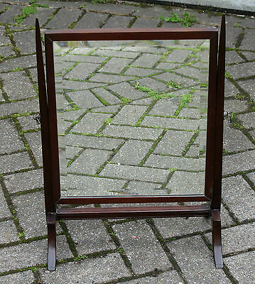 Antique SWING MIRROR Pretty Mahogany ART DECO Touches - COLLECTION ONLY WN5