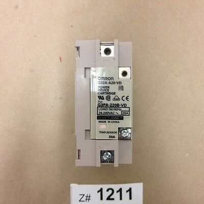 Omron G32A-A20-VD Industrial SSR Relay Power Device Cartridge 5-24VDC.