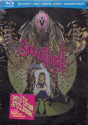 Sucker Punch-Limited Ed.'sdcc 2011' 4 Disc Bluray Steelbook + Cd-New/rare/oop!!!