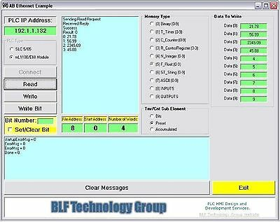 Allen Bradley MicroLogix1100/1400 ActiveX Visual Basic Driver for Building HMI's