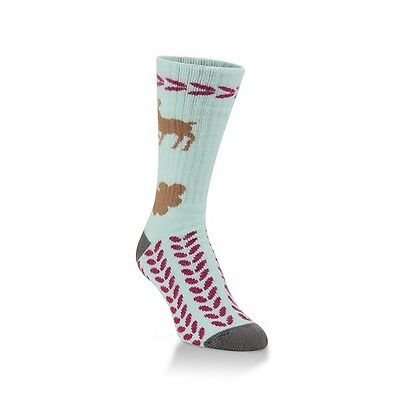 WORLD'S SOFTEST SOCKS Classic Crew - National Park Reindeer- Womens Mens One Sz.