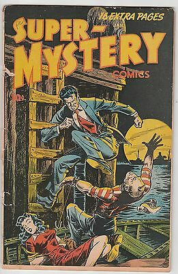 SUPER-MYSTERY COMICS v7 #3,ACE PUB (01/48),BONDAGE COVER,SCARCE BOOK!