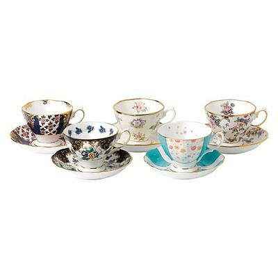 NEW Royal Albert 100 Years 1900-1940 10-Piece Tea Cup & Saucer Set