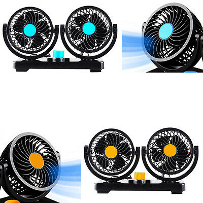 Strong Speed Wind Car Vehicle Truck Electric Air Fan 360 Degree Rotating 12V/24V
