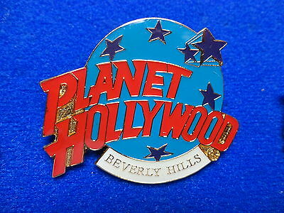 Beverly Hills California Planet Hollywood Blue Planet with Stars Logo PH Pin