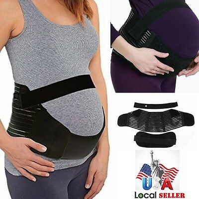 Women Maternity Support Belt Pregnancy Belly Back Brace FDA Approved -Black UD