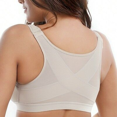 Ladies' Back Support Wirefree Non-Padded Front Closure Bra