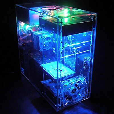 Personalized DIY Clear Acrylic Gaming Computer PC Case for Water Cooling System