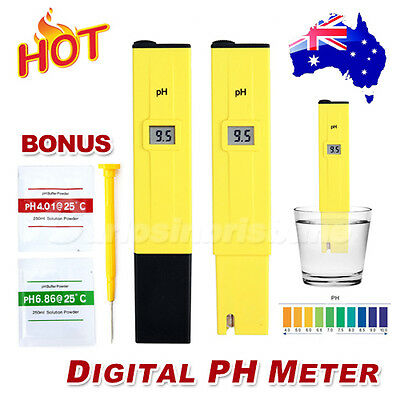 New Digital PH Meter Tester Pocket Portable Pool Water Aquarium Hydroponic Wine